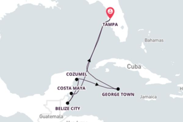 8 giorni verso Tampa passando per Cozumel