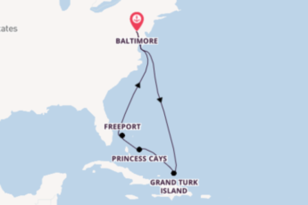 Travelling from Baltimore, Maryland via Freeport