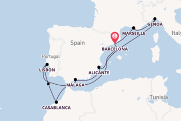 11 day journey from Barcelona