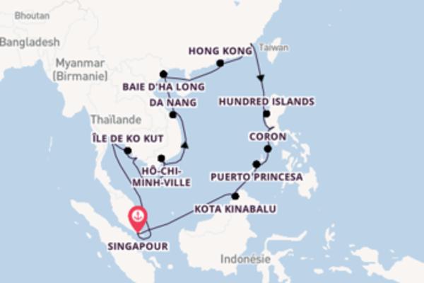 Superbe balade de 29 jours à bord du bateau Seabourn Ovation