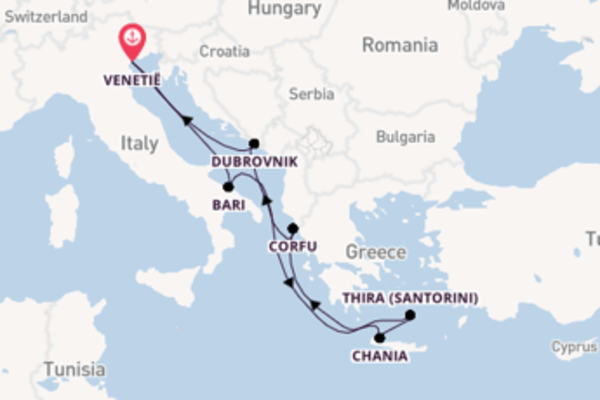 Cruise naar Venetië via Chania