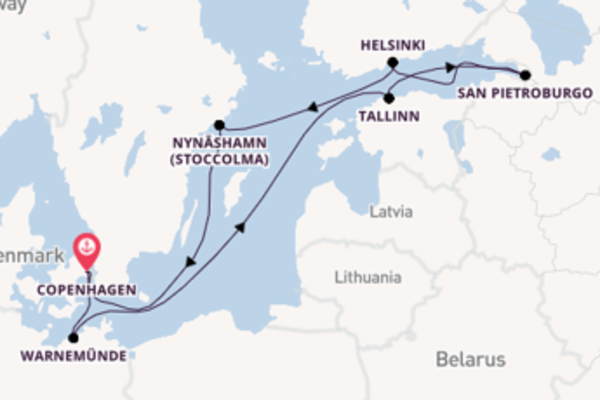 Viaggio da Copenhagen verso Tallinn