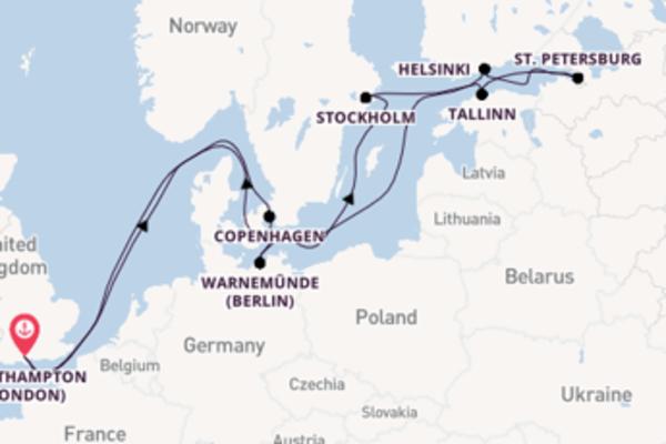 Cruising from Southampton (London) via Copenhagen
