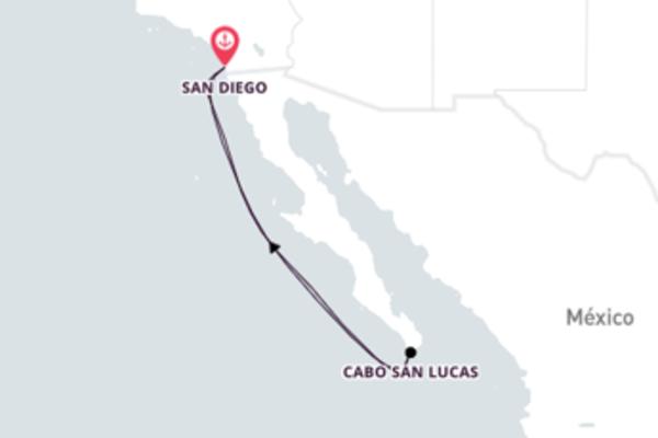 Cabo San Lucas saindo de San Diego com o Carnival Miracle