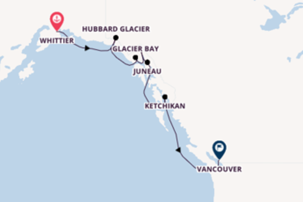 Expedition with the ms Noordam to Vancouver from Whittier