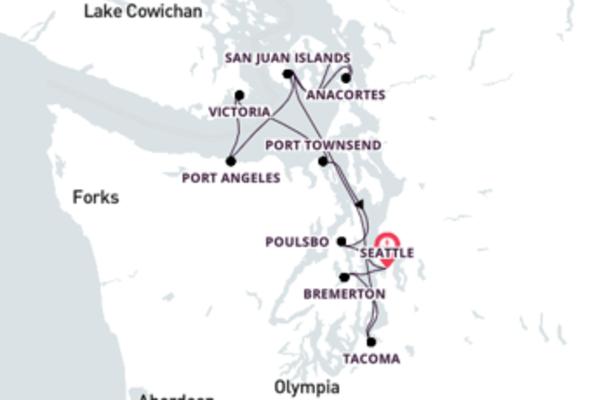 Grand Puget Sound Cruise, Seattle Return