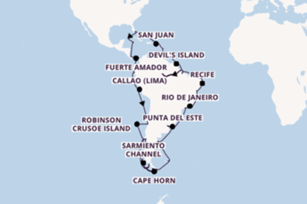 75 day voyage from Fort Lauderdale (Port Everglades)