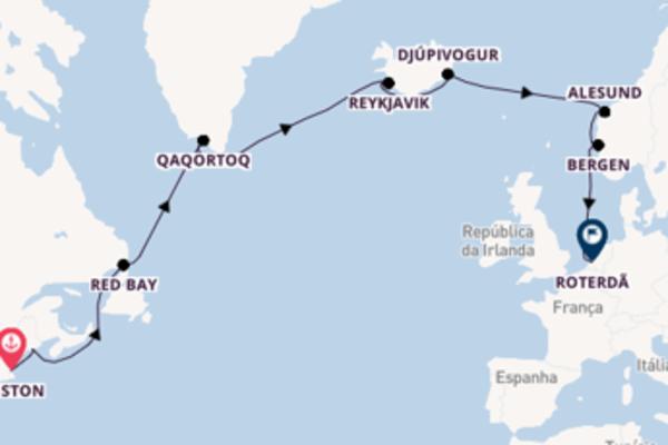 A bordo do Zaandam em um cruzeiro de 17 dias