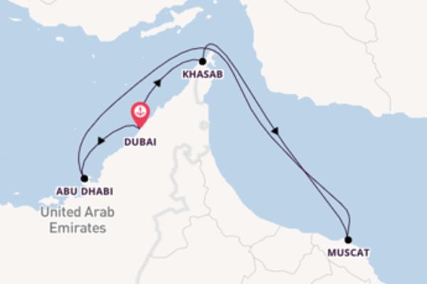 Cruise naar Dubai via Muscat