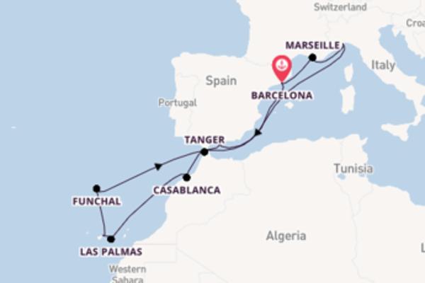 Cruise met Costa Cruises naar Casablanca