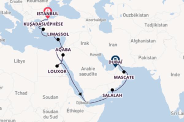 Croisière de 21 jours vers Dubaï avec Oceania Cruises