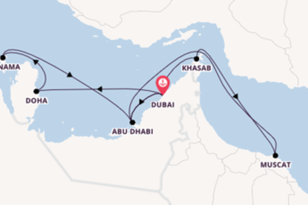 15-daagse cruise met de Mein Schiff 6 vanuit Dubai
