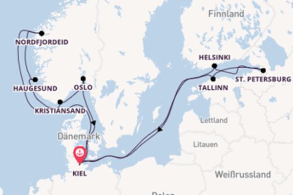 In 15 Tagen nach Kiel über Kristiansand