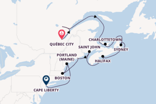 Da Québec a Cape Liberty in 13 giorni