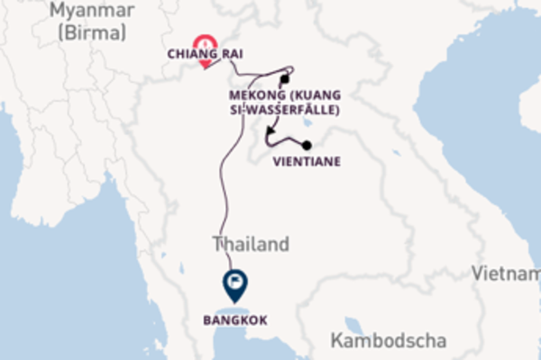 Zwischen dem Goldenen Dreieck und Vientiane