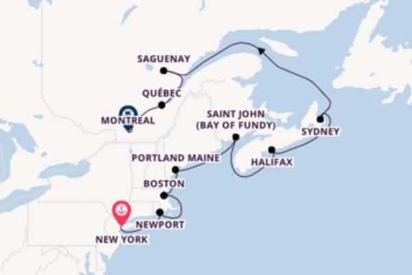11-daagse cruise vanaf New York