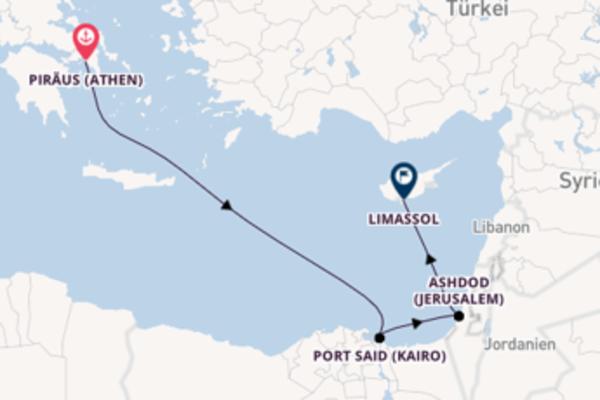 5-tägige Kreuzfahrt von Piräus (Athen) nach Limassol