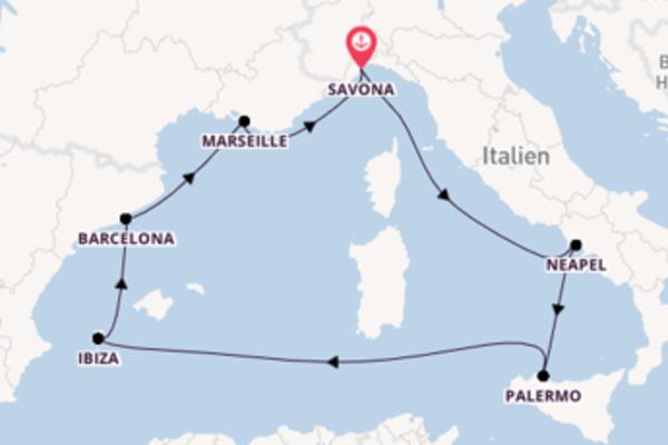 Großartige Kreuzfahrt über Barcelona ab Savona