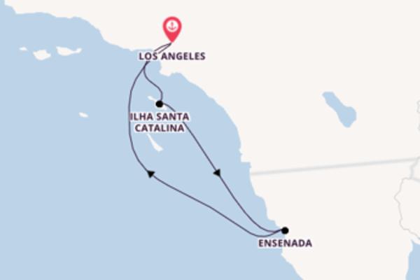 Viagem de ida e volta através da Califórnia e do México