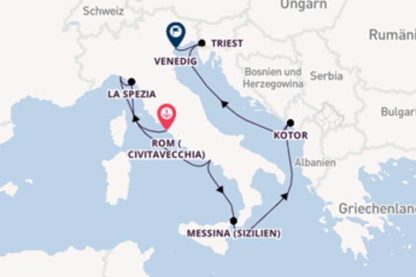In 10 Tagen nach Venedig