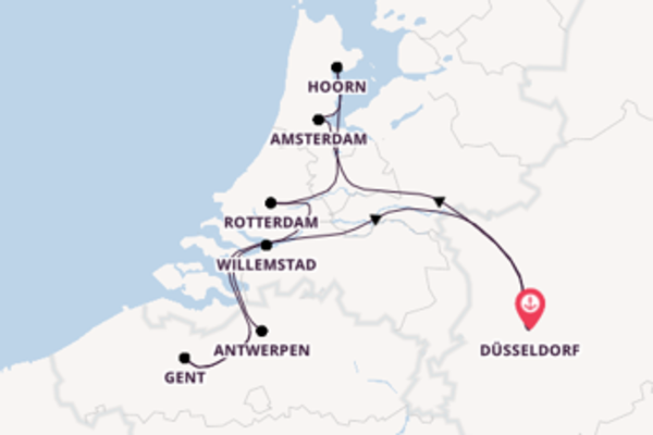 11-daagse reis naar Düsseldorf