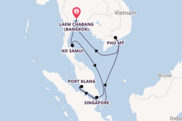 Port Klang aanschouwen met de AIDAbella