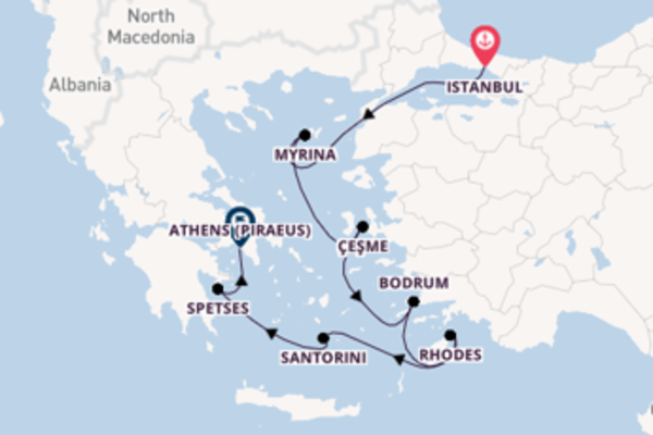 Sailing with the Seabourn Encore to Athens (Piraeus) from Istanbul