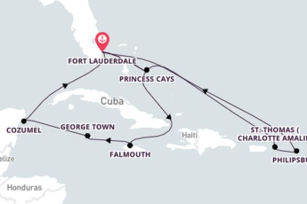 Relaxando por 15 dias a bordo do Caribbean Princess