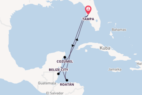 In 8 Tagen nach Tampa über Roatán