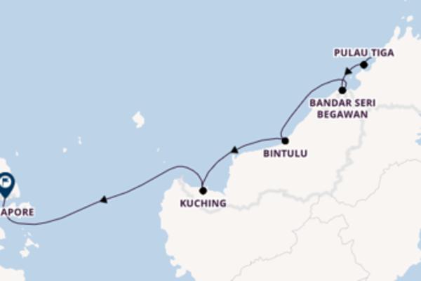 Cruise in 12 dagen naar Singapore, Singapore met Star Clippers