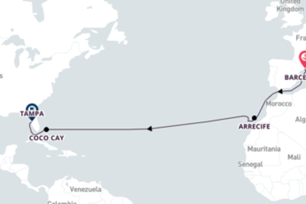 Tropical Transatlantic Trip from Spain to Florida