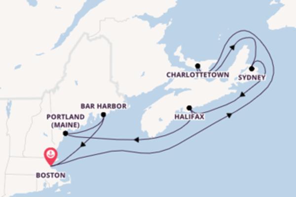 Begeisternde Kreuzfahrt über Halifax ab Boston
