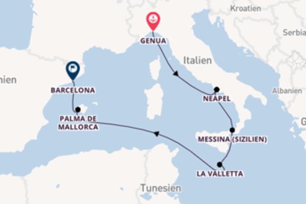 7 Tage unterwegs mit der MSC Grandiosa