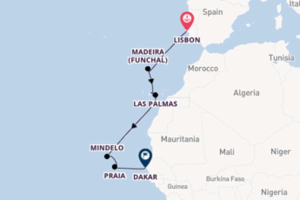 11 day cruise to Dakar from Lisbon