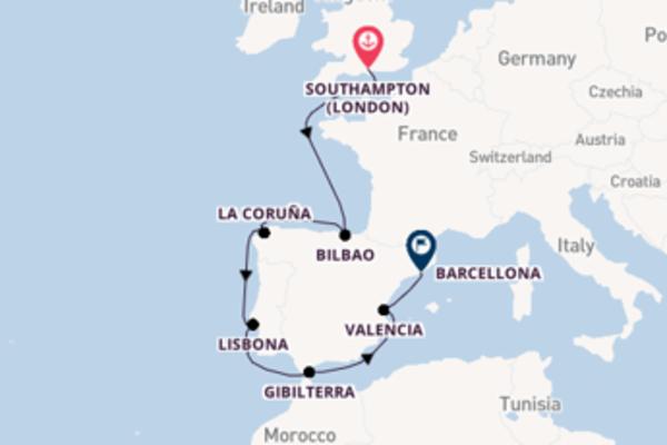 10 giorni di crociera fino a Barcellona