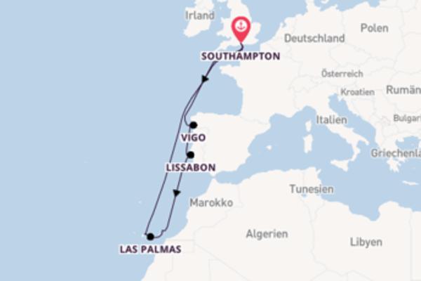 Kreuzfahrt mit der Anthem of the Seas nach Southampton