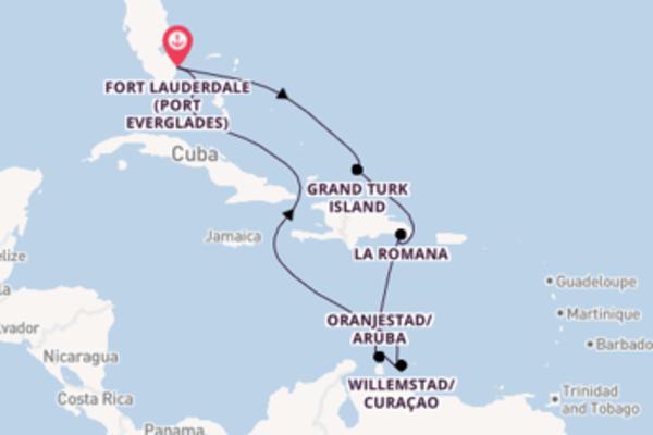Cruising from Fort Lauderdale via Oranjestad