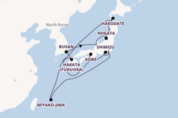 Sensational journey from Yokohama (Tokyo) with Silversea
