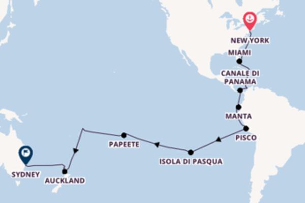 Viaggio di 37 giorni a bordo di Coral Princess