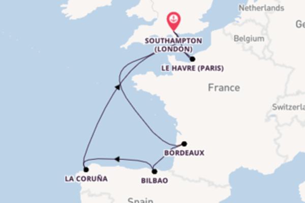 8 day voyage from Southampton (London)