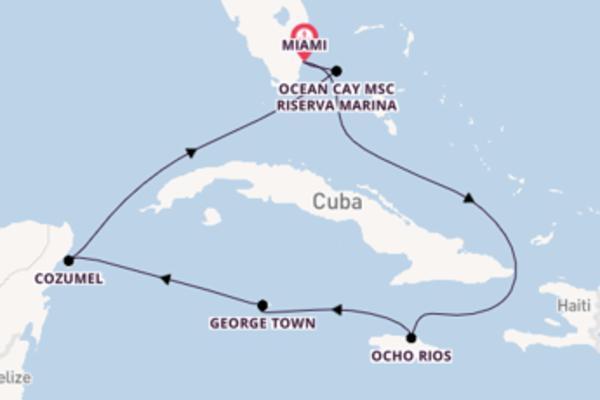 Fare rotta verso Ocho Rios a bordo di MSC Meraviglia