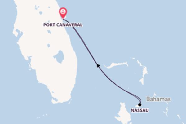 Douce croisière vers Port Canaveral via Nassau