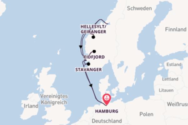 10-tägige Kreuzfahrt ab Hamburg