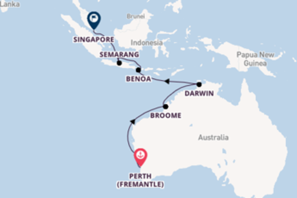 Majestic expedition from Perth (Fremantle) with Cruise and Maritime Voyages