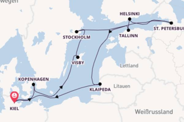 Wunderschöne Reise ab Kiel, Deutschland