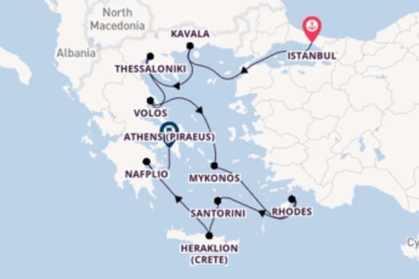 Sailing from Istanbul to Athens (Piraeus)