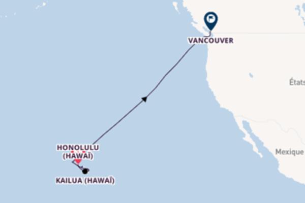 12 jours pour découvrir Kailua (Hawaï) à bord du beateau Serenade of the Seas