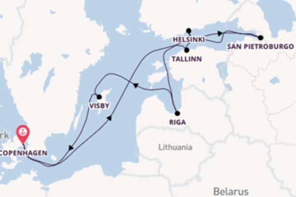 Piacevole viaggio da Copenhagen verso Riga