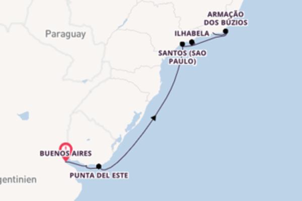 Buenos Aires, Punta del Este und Rio de Janeiro erleben