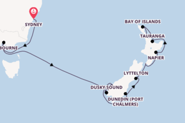 Sailing with the Norwegian Spirit  to Auckland from Sydney